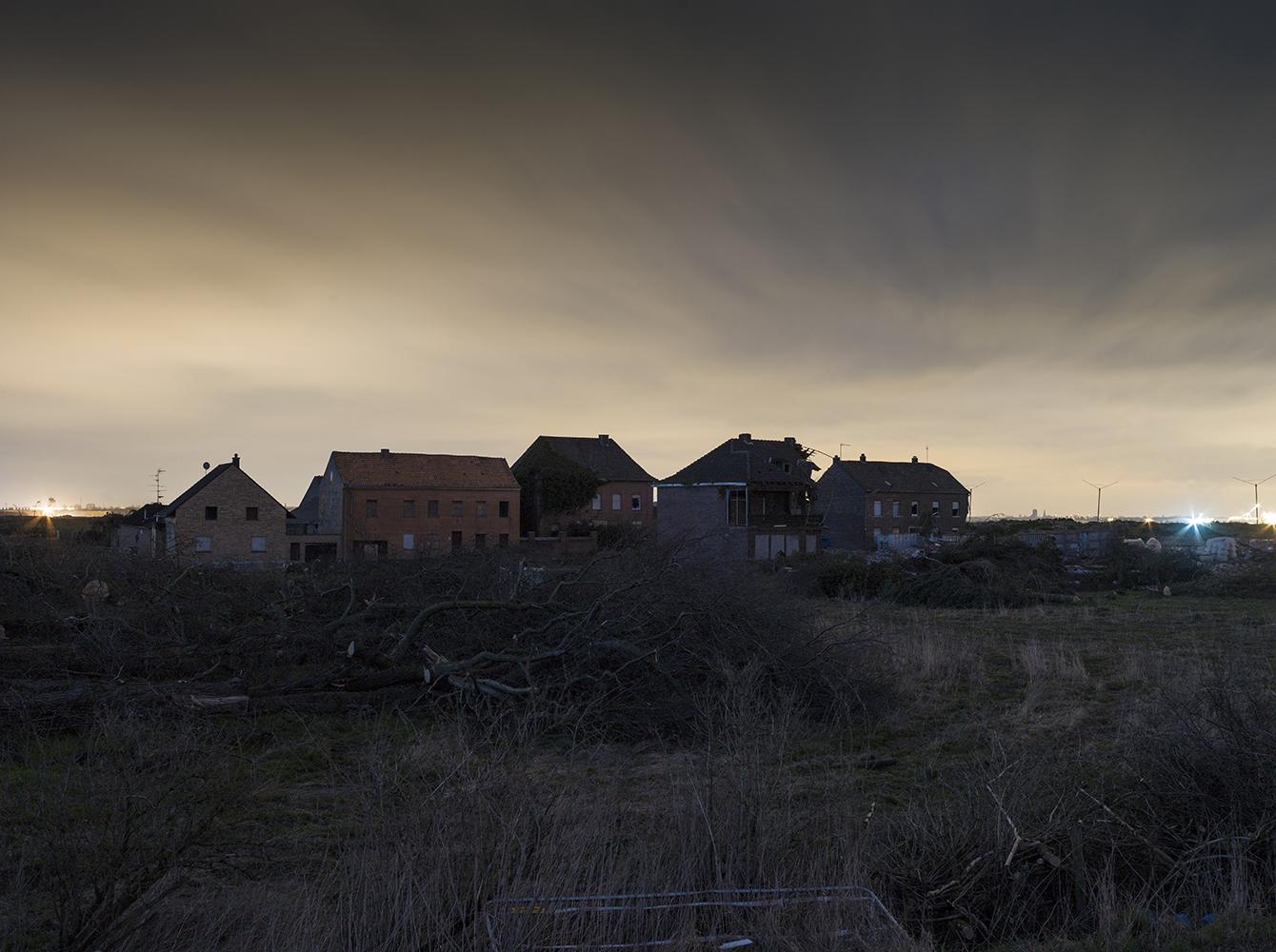 Tagebau Garzweiler, die letzen Häuser von Pesch
