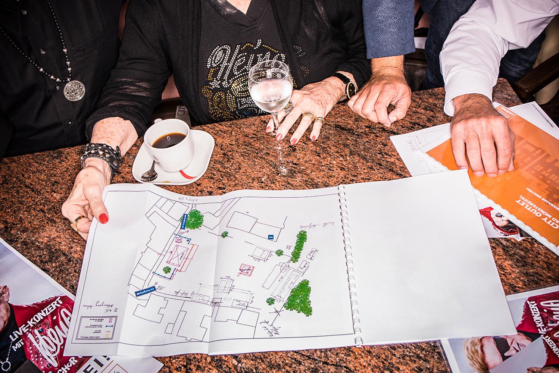 Planung für das Sicherheitskonzept des Heino Konzerts