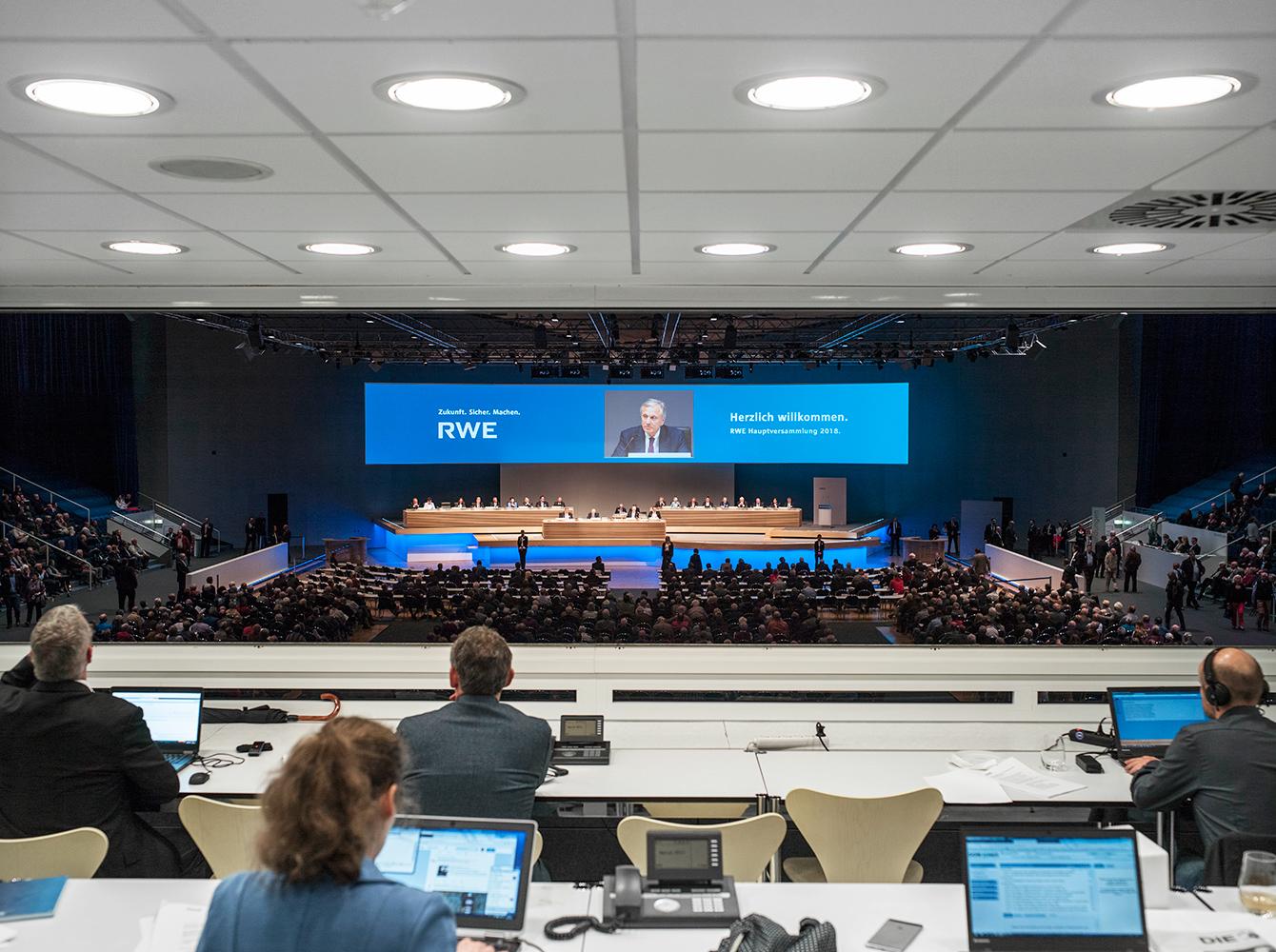 Hauptversammlung der RWE AG, Essen