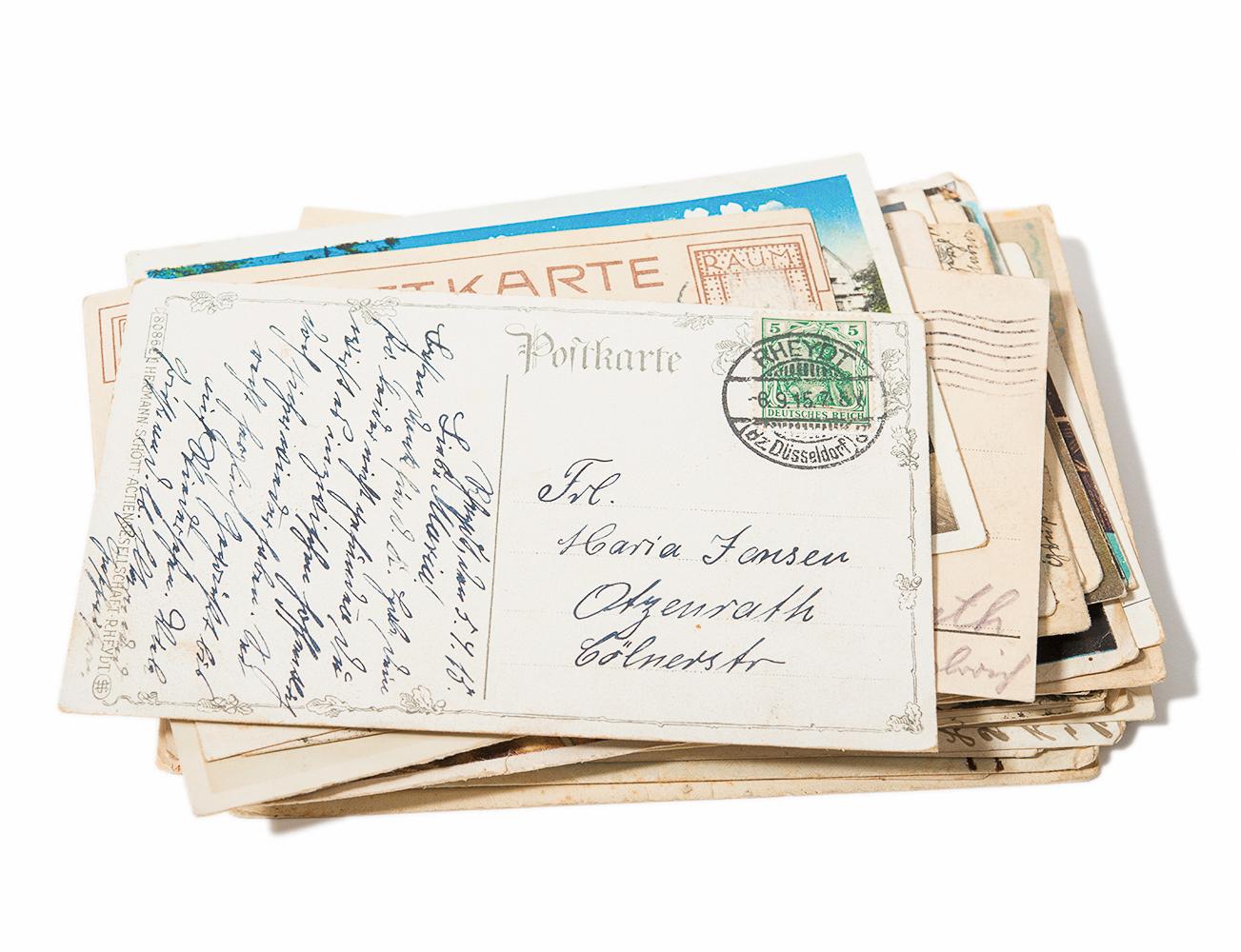 Brief aus dem verschwundenen Ort Otzenrath, Hausmuseum Otzenrath
