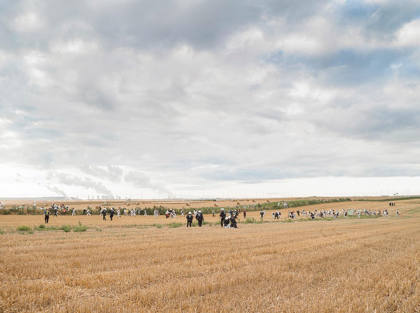 Klimaaktivisten und Polizei, Tagebau Garzweiler
