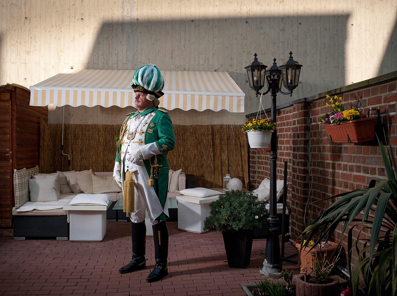 Garde Corps Grün-Weiß, Frank Merkend