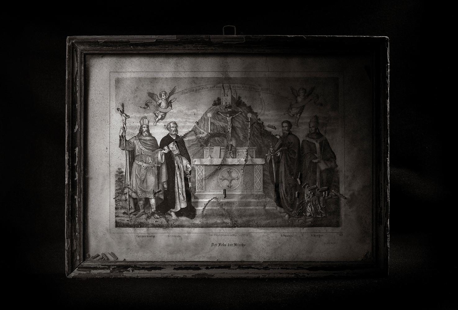 Heiligenbild aus dem Geburtshaus Bernd Alois Zimmermanns, Bliesheim (Sammlung Bartsch, Bliesheim)